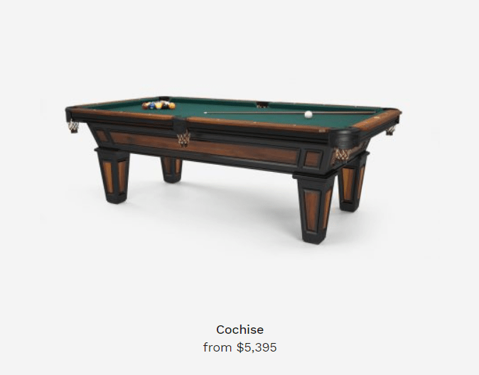cochise billiard table