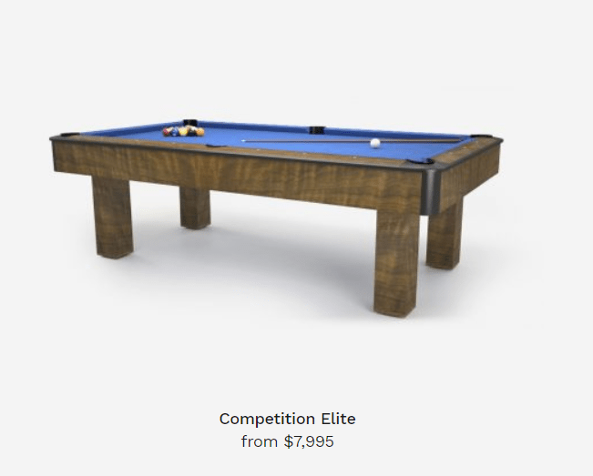 competition elite pool tables