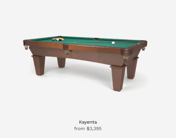 kayenta pool tables