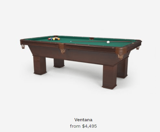 ventana pool tables